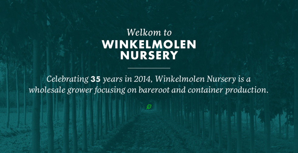 Winkelmolen Home welcome message